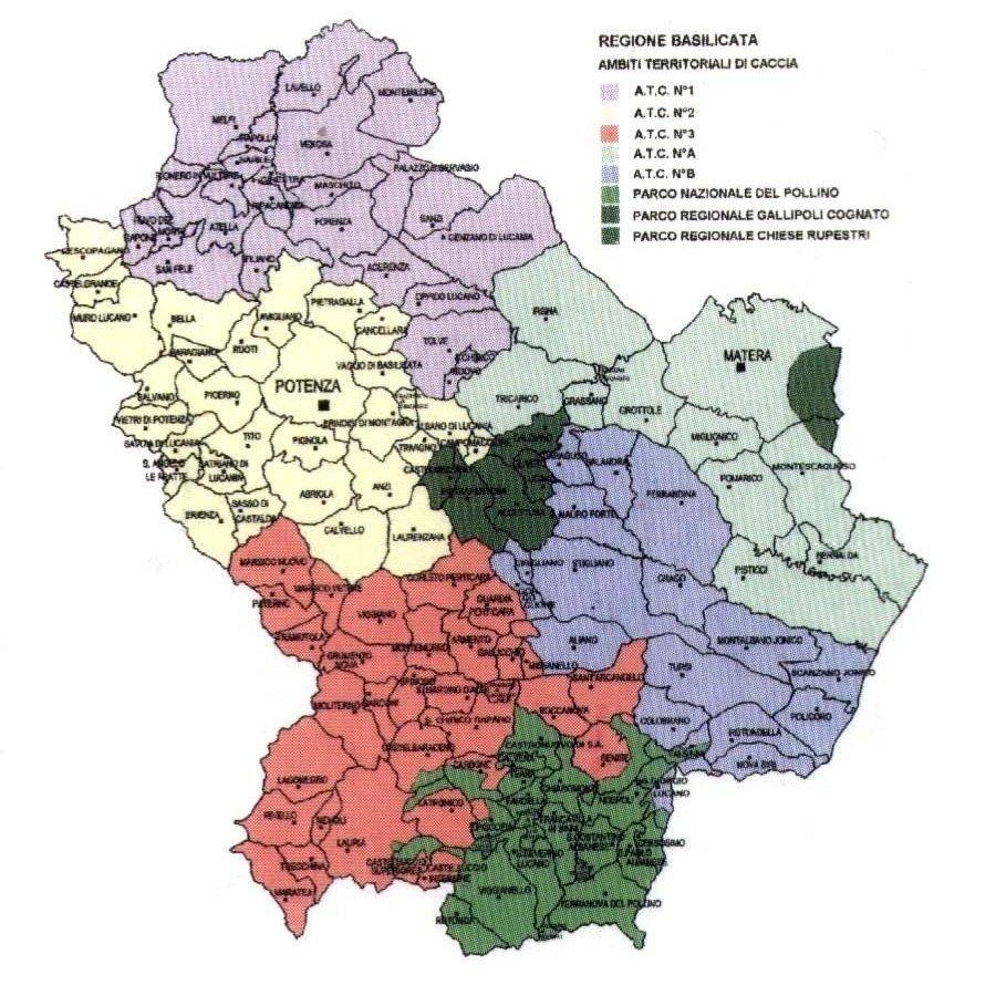 Cartina Geografica Regione Basilicata.Il Territorio Atc2 Potenza